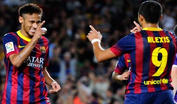 ثنائية نيمار تقود برشلونة لقبل نهائى كأس الملك