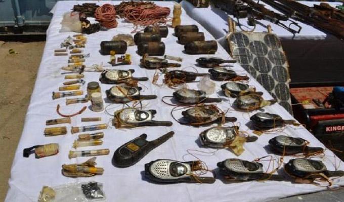 اكتشاف مخبأين للاسلحة في الجزائر