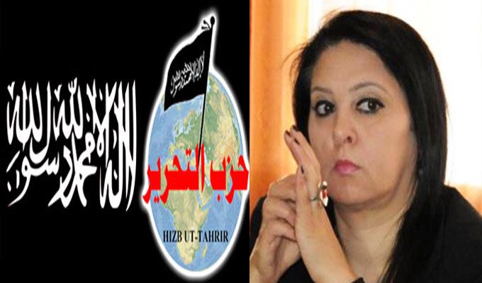 تونس-بدرة قعلول للمصدر: يجب حل حزب التحرير لأنه تحدى مواثيق الوطن وحمل شعار أكبر تنظيم ارهابي