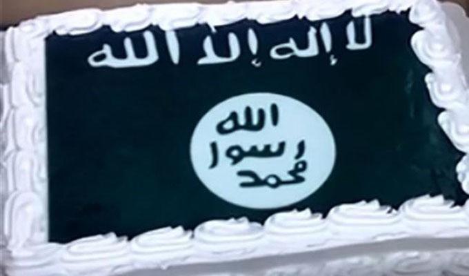 الكعكة المزينة بعلم داعش