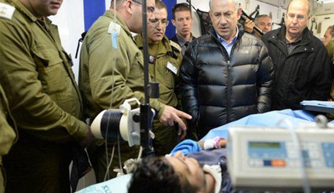 نتنياهو يعود جرحى الجماعات المسلحة السورية