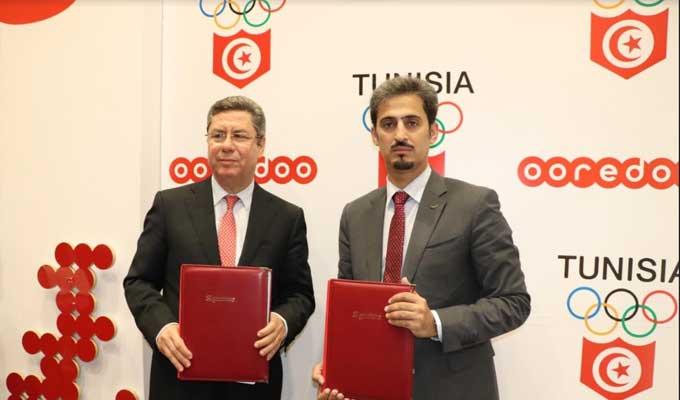 Ooredoo 2 - Ooredoo واللجنة الوطنية الأولمبية التونسية  يتعاقدان من أجل القيم والتألّق