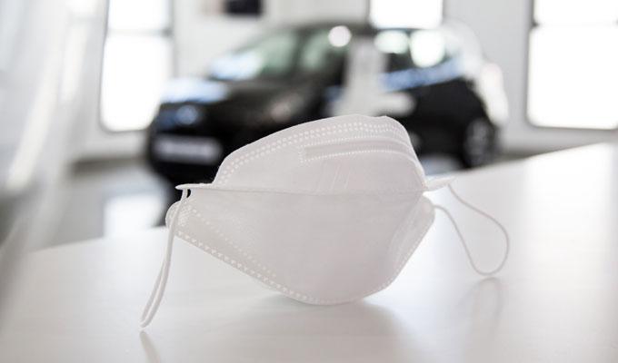 hyundai masque3d - هيونداي موتور كمباني تدعم إجراءاتها الصحية و تقدّم هبة في شكل أقنعة ثلاثية الأبعاد لفائدة شبكة وكالاتها في تونس